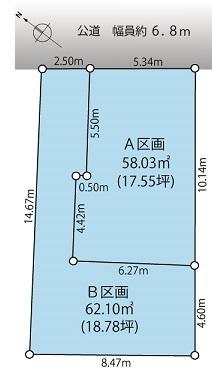 【レインズ】上池台3丁目 販売図面(2分割A区画).jpg
